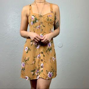 American Eagle mustard Floral dress sz Sm